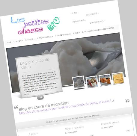 Page d'accueil du blog