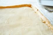 Tarte à la crème de pomme et caramel au beurre salé