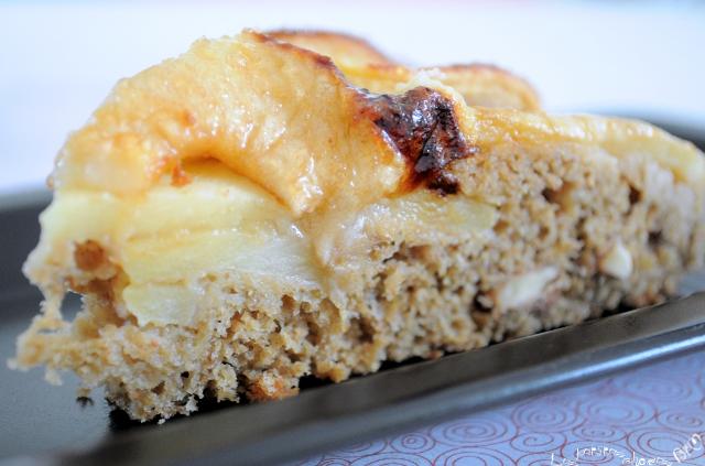 Gâteau pomme et noix