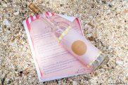Chasse au trésor _ Bouteille à la mer et lettre du Capitaine