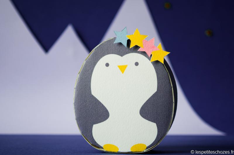 papertoy pingouin