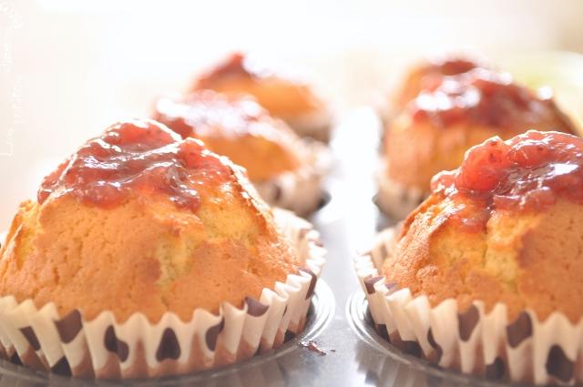 muffins à la fraise