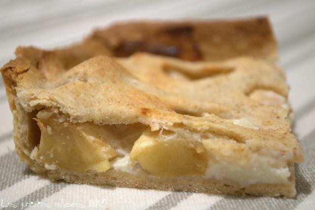 Tarte aux pommes et yaourts au lait de brebis