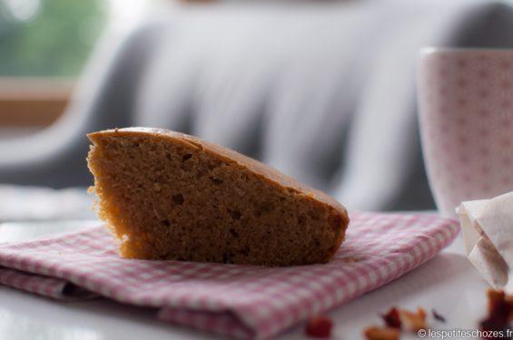 Gâteau au levain, rhum et pépites de chocolat